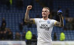 Joe Ward of Peterborough United celebrates the victory at full-time - Mandatory by-line: Joe Dent/JMP - 16/02/2019 - FOOTBALL - Kassam Stadium - Oxford, England - Oxford United v Peterborough United - Sky Bet League One