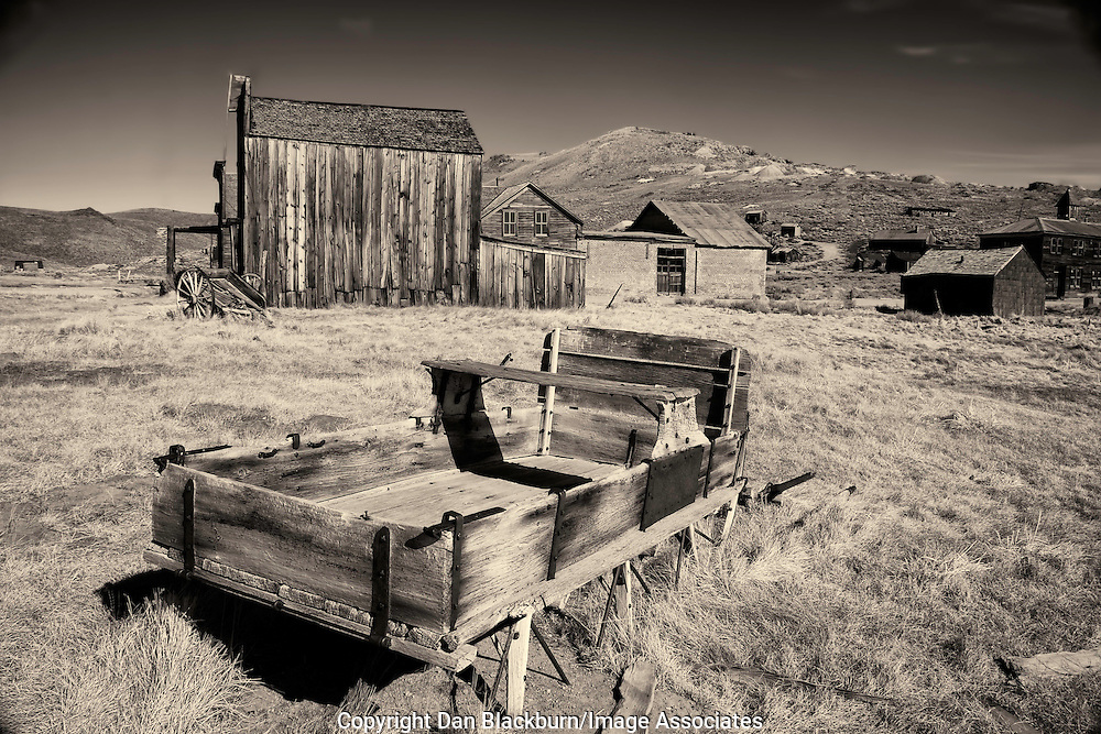 Old Wagon sits outside of the famous Bodie Ghost Town  in California