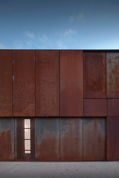 Steel exterior or Hackney marshes sports centre by Stanton Williams in East London