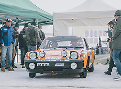 01.02.2020, Flugplatz, Zell am See, AUT, GP Ice Race, im Bild Porsche Rallye Auto // Porsche Ralleye Car during the GP Ice Race at the Airfield, Zell am See, Austria on 2020/02/01. EXPA Pictures © 2020, PhotoCredit: EXPA/ JFK