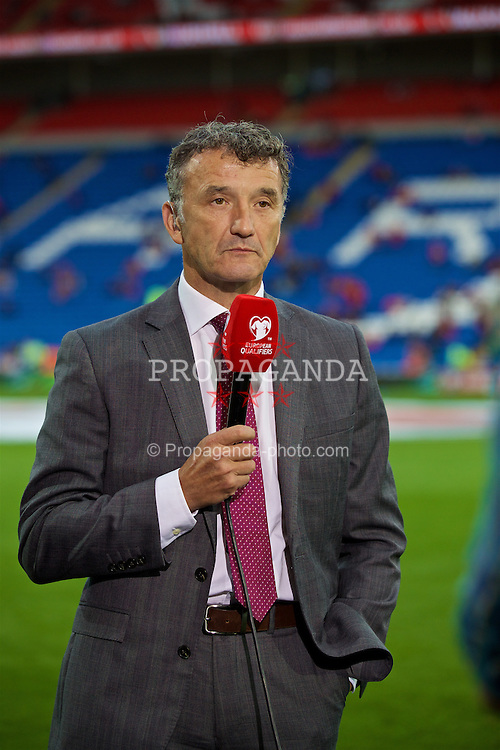 CARDIFF, WALES - Monday, September 5, 2016: Former Wales international Barry Horn before the 2018 FIFA World Cup Qualifying Group D match against Moldova at the Cardiff City Stadium. (Pic by David Rawcliffe/Propaganda)