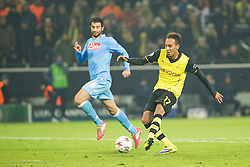 26.11.2013, Signal Iduna Park, Dortmund, GER, UEFA CL, Borussia Dortmund vs SSC Neapel, Gruppe F, im Bild Pierre Emerick Aubameyang (Borussia Dortmund) // Pierre Emerick Aubameyang (Borussia Dortmund) during UEFA Champions League group F match between Borussia Dortmund and SSC Napoli at the Signal Iduna Park in Dortmund, Germany on 2013/11/26. EXPA Pictures © 2013, PhotoCredit: EXPA/ Newspix/ Lukasz Skwiot / Foto Olimpik<br /> <br /> *****ATTENTION - for AUT, SLO, CRO, SRB, BIH, MAZ, TUR, SUI, SWE only*****