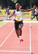 POTCHEFSTROOM, SOUTH AFRICA, Saturday 24 March 2012, Patience Ntshingila in the women's triple jump during the Yellow Pages Series 2 athletics meeting at the McArthur Stadium..Photo by Roger Sedres/Image SA