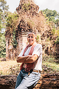 Bill Bensley at brick temple on Kulen Mountain