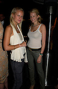 Olympia and Fiona Scarry. Ian Schrager party  to launch 50 Gramercy Park North . Schrager, with the help of  architect John Pawson, is building a block of 23 residences facing Gramercy Park,New York.   The party was held at the Sanderson Hotel London. 9  June 2005. ONE TIME USE ONLY - DO NOT ARCHIVE  © Copyright Photograph by Dafydd Jones 66 Stockwell Park Rd. London SW9 0DA Tel 020 7733 0108 www.dafjones.com