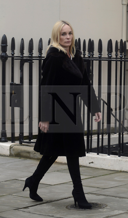© Licensed to London News Pictures. 11/04/2013. London, UK. Sarah Russell, wife of Mark Thatcher the son of former British Prime Minister Margaret Thatcher outside at the house where former Conservative Prime Minister Margaret Thatcher lived in central London on 11 April 2013..Photo credit : Peter Kollanyi/LNP