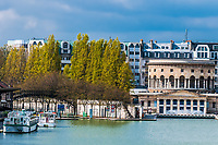 stalingrad waterfront in the city of Paris in france