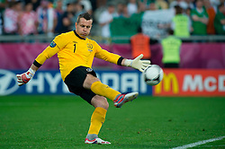 10.06.2012, Staedtisches Stadion, Posen, POL, UEFA EURO 2012, Irland vs Kroatien, Gruppe C, im Bild SHAY GIVEN // during the UEFA Euro 2012 Group C Match between Ireland and Croatia at the Municipal Stadium Poznan, Poland on 2012/06/10. EXPA Pictures © 2012, PhotoCredit: EXPA/ Newspix/ Jakub Kaczmarczyk..***** ATTENTION - for AUT, SLO, CRO, SRB, SUI and SWE only *****