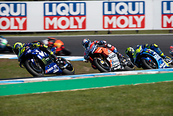 October 28, 2018 - Phillip Island, VIC, U.S. - PHILLIP ISLAND, VIC - OCTOBER 28: Movistar Yamaha MotoGP rider Valentino Rossi (46) leads Ducati Team rider Andrea Dovizioso (4) at The 2018 Australian MotoGP on October 28, 2018, at The Phillip Island Circuit in Victoria, Australia. (Photo by Speed Media/Icon Sportswire) (Credit Image: © Steven Markham/Icon SMI via ZUMA Press)