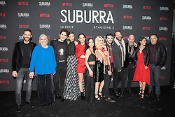 the cast at the Red Carpet of the series Suburra 2 at Circolo Degli Illuminati in Rome, Italy, 20 February 2019  (Credit Image: © Lucia Casone/Soevermedia via ZUMA Press)