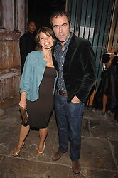 Actor JAMES NESBITT and his wife actress SONIA FORBES-ADAM at the Stephen Webster launch party of his latest jewellery collection during the London Jewellery Week, at Wilton's Music Hall, Graces Alley, Off Ensign Street, London E1 on 12th June 2008.<br /><br />NON EXCLUSIVE - WORLD RIGHTS