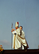Pope John Paul II at a mass near Des Moines, Iowa in October 1979..Photograph by Dennis Brack BBBs 20