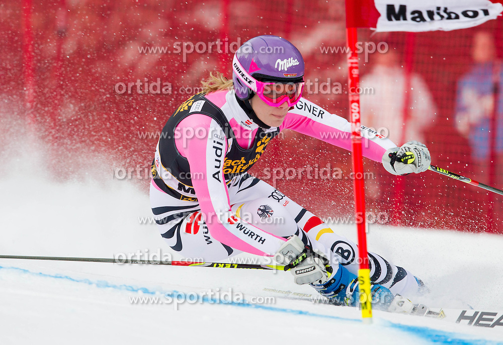 """HOEFL-RIESCH Maria of Germany competes during 1st Run of FIS Alpine Ski World Cup 7th Ladies' Giant Slalom race named """"49th Golden Fox 2013"""", on January 26, 2013 in Mariborsko Pohorje, Maribor, Slovenia. (Photo By Vid Ponikvar / Sportida.com)"""
