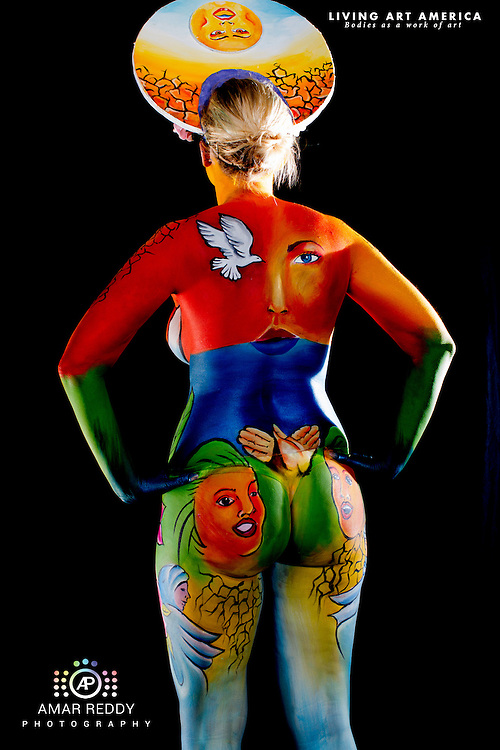 Living Art America::The Bodies Works of Art::The North American Body Painting Championship | A World Body-painting Association Sanctioned Event <br /> <br /> Artist: Chantal Savard Cusson, Model:&nbsp;Kimberly,<br /> Photographer: Amar Reddy<br /> <br /> www.livingartamerica.com<br /> www.AmarPhotography.com
