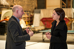 Pictured: Alex McGowan, Executive Director of the Lyecum and Kezia Dugdale<br /> Scottish Labour leader Kezia Dugdale, MSP,  and Tom Watson, MP deputy leader of the Labour Party, visited Edinburgh's Royal Lyceum Theatre today.<br /> <br /> Ger Harley | EEm 27 March 2017