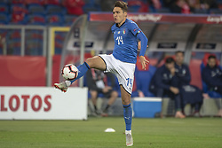 October 14, 2018 - Chorzow, Poland - Federico Chiesa of Italy during the UEFA Nations League A match between Poland and Italy at Silesian Stadium in Chorzow, Poland on October 14, 2018  (Credit Image: © Andrew Surma/NurPhoto via ZUMA Press)