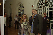 Gillian Anderson and Mark, The Exquisite Corpse-Polly Morgan. Reconstruction Project at Trinity Church. Marylebone Rd. London. 3 October 2007. -DO NOT ARCHIVE-© Copyright Photograph by Dafydd Jones. 248 Clapham Rd. London SW9 0PZ. Tel 0207 820 0771. www.dafjones.com.