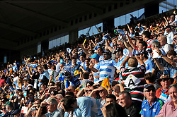 Argentina supporters in the crowd celebrate a try - Mandatory byline: Patrick Khachfe/JMP - 07966 386802 - 04/10/2015 - RUGBY UNION - Leicester City Stadium - Leicester, England - Argentina v Tonga - Rugby World Cup 2015 Pool C.
