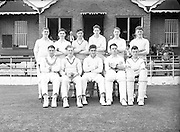 09/07/1952<br /> 07/09/1952<br /> 09 July 1952<br /> Munster v Leinster Schools Cricket at Rathmines, special for the Cork Examiner. The Leinster Team.