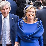 NLD/Den Haag/20180918 - Prinsjesdag 2018, Pia Dijkstra en partner Gerlach Cerfontaine