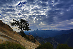 June 28, 2017 - Weinan, Weinan, China - Weinan, CHINA-September 26 2015: (EDITORIAL USE ONLY. CHINA OUT) Mount Hua is a mountain located near the city of Huayin in northwest China's Shaanxi Province, about 120 kilometres (75 mi) east of Xi'an. It is the western mountain of the Five Great Mountains of China, and has a long history of religious significance. Originally classified as having three peaks, in modern times the mountain is classified as five main peaks, of which the highest is the South Peak at 2,154.9 metres  (Credit Image: © SIPA Asia via ZUMA Wire)