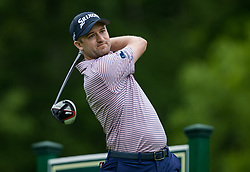May 30, 2019 - Dublin, OH, U.S. - DUBLIN, OH - MAY 30: Russell Knox of Scotland plays his shot from the 18th tee during the Memorial Tournament presented by Nationwide at Muirfield Village Golf Club on May 30, 2018 in Dublin, Ohio. (Photo by Adam Lacy/Icon Sportswire) (Credit Image: © Adam Lacy/Icon SMI via ZUMA Press)