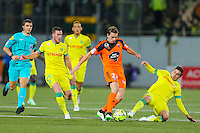 Benjamin JEANNOT / Jordan VERETOUT / Alejandro BEDOYA  - 20.12.2014 - Lorient / Nantes - 19eme journee de Ligue 1 -<br /> Photo : Vincent Michel / Icon Sport