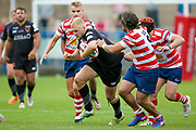 Bradford Bulls loose forward Damian Sironen (10) in action  during the Kingstone Press Championship match between Oldham RLFC and Bradford Bulls at Bower Fold, Oldham, United Kingdom on 13 August 2017. Photo by Simon Davies.