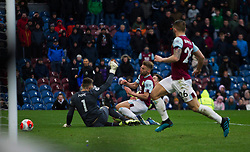 Harry Wilson of Bournemouth (C) scores his sides first goal before it is disallowed and a penalty awarded to Burnley - Mandatory by-line: Jack Phillips/JMP - 22/02/2020 - FOOTBALL - Turf Moor - Burnley, England - Burnley v Bournemouth - English Premier League