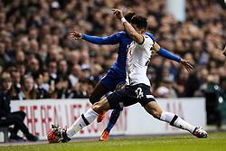 Nacer Chadli of Tottenham Hotspur stretches for the ball - Mandatory byline: Jason Brown/JMP - 07966386802 - 10/01/2016 - FOOTBALL - White Hart Lane - London, England - Tottenham v Leicester City - The Emirates FA Cup