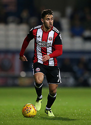 "Sheffield United's George Baldock in action during the game during the Sky Bet Championship match at Loftus Road, London. PRESS ASSOCIATION Photo. Picture date: Tuesday October 31, 2017. See PA story SOCCER QPR. Photo credit should read: Steven Paston/PA Wire. RESTRICTIONS: EDITORIAL USE ONLY No use with unauthorised audio, video, data, fixture lists, club/league logos or ""live"" services. Online in-match use limited to 75 images, no video emulation. No use in betting, games or single club/league/player publications."