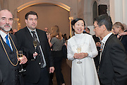 CHRISTOPHER LE BRUN;; JEAN-MARC SCHERRER; MARIKO MORI; Keiichi Hayashi JAPANESE AMBASSADOR IN LONDON, Mariko Mori opening, Royal Academy Burlington Gardens Gallery. London. 11 December 2012.