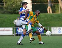 Photo: Maarten Straetemans.<br /> FC Zwolle v Norwich City. Pre Season Friendly. 25/07/2007.<br /> Dion Dublin (right) of Norwich City