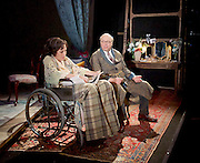 The Moderate Soprano <br /> by David Hare <br /> at the Hampstead Theatre, London, Great Britain <br /> press photocall<br /> 27th October 2015 <br /> Nancy Carroll as Audrey Mildmay<br /> Roger Allam as Captain John Christie<br /> <br /> <br /> Photograph by Elliott Franks <br /> Image licensed to Elliott Franks Photography Services