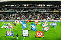 Illustration entree des joueurs  - 04.12.2014 - Lyon / Reims - 16eme journee de Ligue 1  <br /> Photo : Jean Paul Thomas / Icon Sport