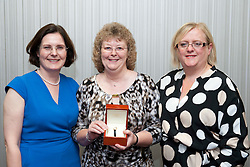 Pictured is, from left, Lincolnshire Co-operative chief executive Ursula Lidbetter, Sue Townsend, Lincolnshire Co-operative president Amy Morley<br /> <br /> Lincolnshire Co-operative long service awards 2015, held at The Showroom, Tritton Road, Lincoln.<br /> <br /> Date: September 23, 2015<br /> Picture: Chris Vaughan/Chris Vaughan Photography