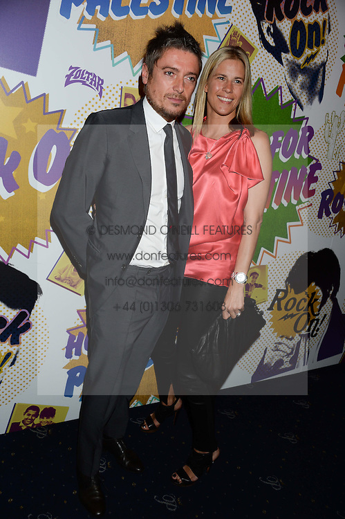 DARREN STROWGER and CLARE STROWGER  at the Hoping Foundation's 'Rock On' Benefit Evening for Palestinian refuge children held at the Cafe de Paris, London on 20th June 2013.