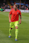 defender Dave Winfield during the Sky Bet League 2 match between Exeter City and York City at St James' Park, Exeter, England on 22 August 2015. Photo by Simon Davies.