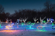 Hamptonburgh, New York  - Holiday Lights in Bloom at the Orange County Arboretum on Dec. 28, 2017.