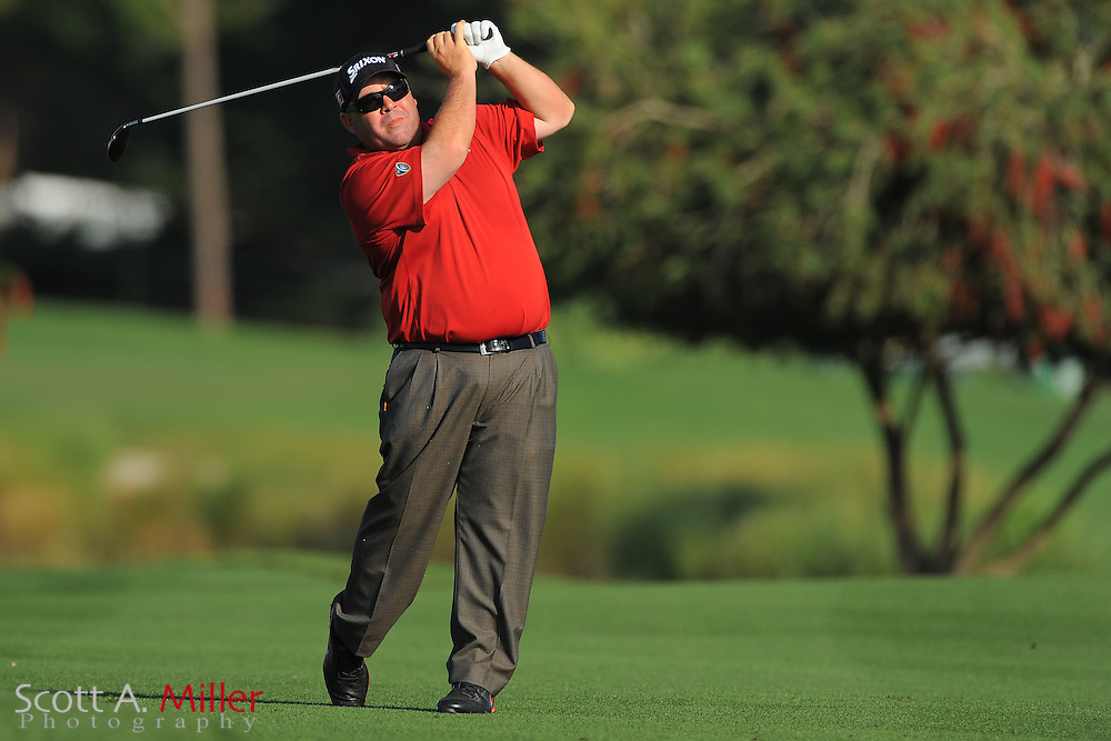 Kevin Stadler with his bag during the second round of the Honda Classic at PGA National on March 2, 2012 in Palm Beach Gardens, Fla. ..©2012 Scott A. Miller.