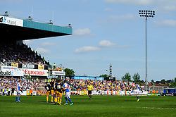 Kaid Mohamed (WAL) of Bristol Rovers takes a free kick - Photo mandatory by-line: Rogan Thomson/JMP - 07966 386802 - 03/05/2014 - SPORT - FOOTBALL - Memorial Stadium, Bristol - Bristol Rovers v Mansfield Town - Sky Bet League Two. (Note: Mansfield are wearing a Rovers spare kit having forgotten their own).