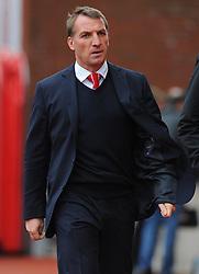 Liverpool Manager, Brendan Rodgers - Photo mandatory by-line: Nizaam Jones/JMP - Mobile: 07966 386802 - 24/05/2015 - SPORT - Football - Stoke - Britannia Stadium - Stoke City v Liverpool - Barclays Premier League