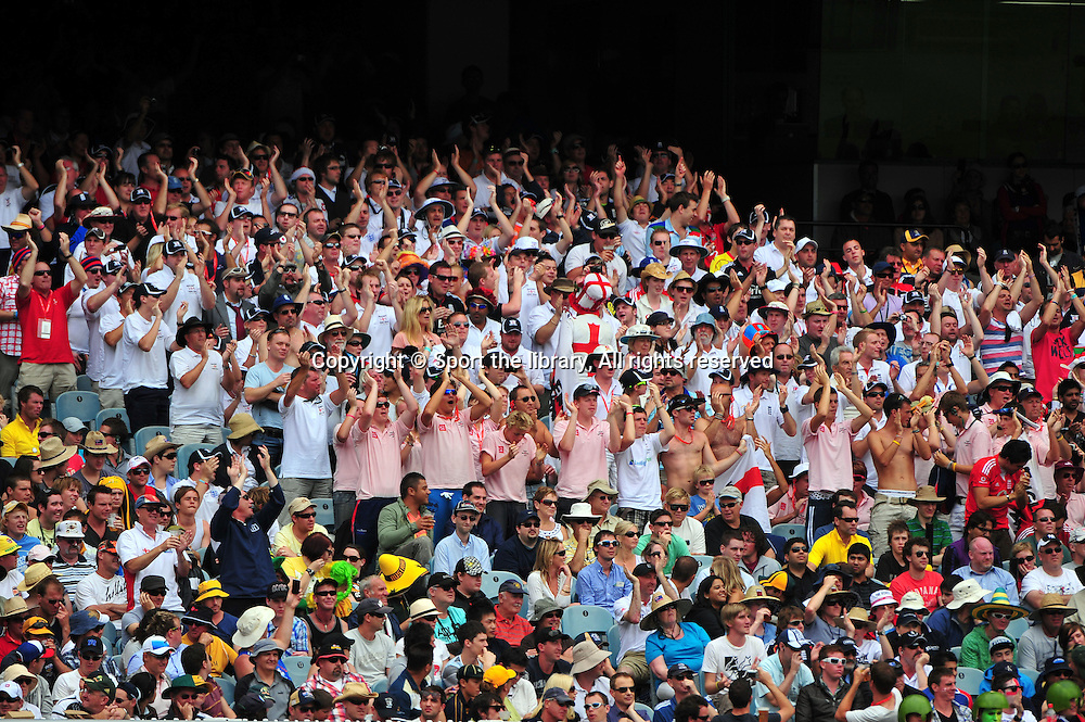 The Balmy Army in full song<br /> Australia vs England<br /> Cricket - Ashes Test 3 / Melbourne<br /> Melbourne Cricket Ground / MCG<br /> Sunday 26 December 2010<br /> &copy; Sport the library/Jeff Crow