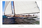 Built in 1913, Spartan is the last remaining New York Yacht Club 50 class wooden sailboat. The NY50 is a gaff rigged sloop, and only nine of these classic sailboats were built by the Herreshoff Manufacturing Company in Bristol, RI.