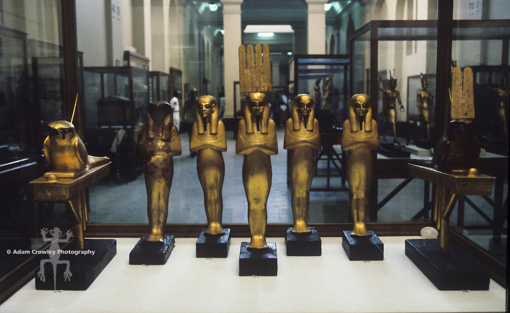 Gold statues, Cairo Museum