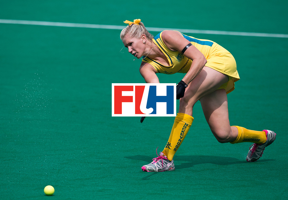 21/06/2015<br /> HWL Semi Final Antwerp Belgium 2015<br /> Australia v Poland Women<br /> Jodie Kenny<br /> Photo: Grant Treeby
