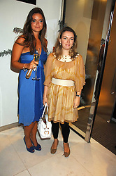Left to right, sisters LADY NATASHA RUFUS-ISAACS and LADY SYBILLA HART at a party to launch jeweller Boodles new store at 178 New Bond Street, London W1 on 26th September 2007.<br />