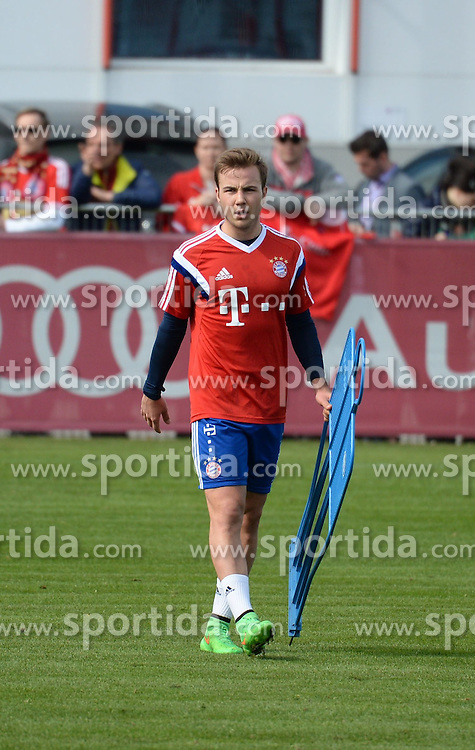 17.03.2015, Saebener Strasse, Muenchen, GER, 1. FBL, FC Bayern Muenchen, Training, im Bild vl. Mario Goetze ( FC Bayern Muenchen ) // during a Trainingssession of German Bundesliga Club FC Bayern Munich at the Saebener Strasse in Muenchen, Germany on 2015/03/17. EXPA Pictures &copy; 2015, PhotoCredit: EXPA/ Eibner-Pressefoto/ Vallejos<br /> <br /> *****ATTENTION - OUT of GER*****