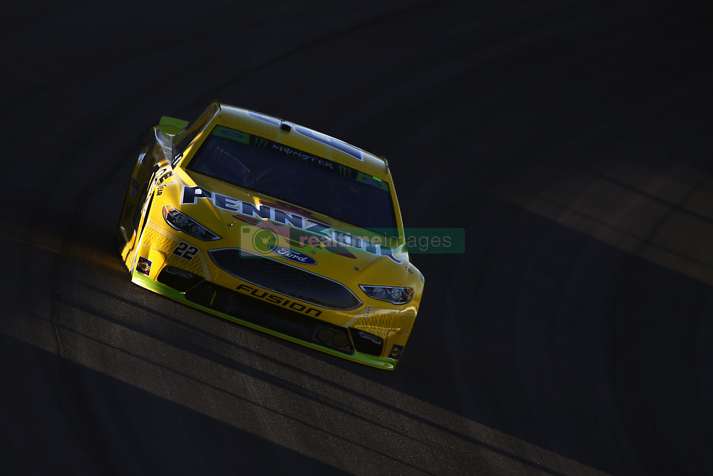 September 14, 2018 - Las Vegas, Nevada, United States of America - Joey Logano (22) brings his car through the turns during qualifying for the South Point 400 at Las Vegas Motor Speedway in Las Vegas, Nevada. (Credit Image: © Chris Owens Asp Inc/ASP via ZUMA Wire)