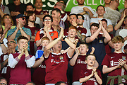 Northampton fans during the EFL Sky Bet League 1 match between Northampton Town and Oldham Athletic at Sixfields Stadium, Northampton, England on 5 May 2018. Picture by Dennis Goodwin.